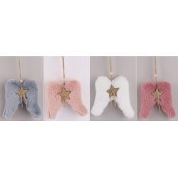 Vianočné ozdoby z plyšu - anjelské krídla 4 kusy