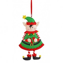 Ozdoba na vianočný stromček - Škriatok dievčatko