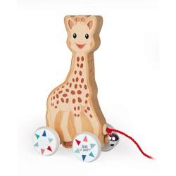 Janod drevená hračka na ťahanie Žirafa Sophie