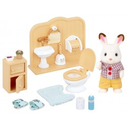 Sylvanian Families 5015 Nábytok brat čokoládových králikov v kúpeľni