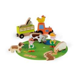 JANOD Mini Story Set drevené postavičky Farma