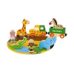 JANOD Mini Story Set drevené postavičky Safari