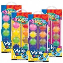 Colorino Kids vodové farby - 12 farieb s Ø 23 mm