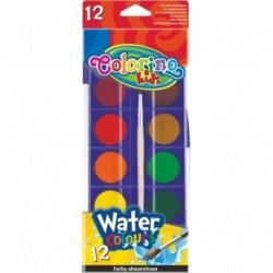 Colorino Kids vodové farby - 12 farieb s Ø 27 mm