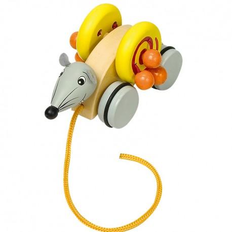 Legler Drevená hračka na ťahanie - Myška