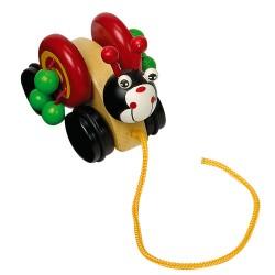 Legler Drevená hračka na ťahanie - Lienka
