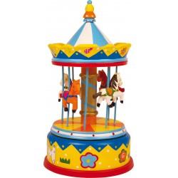 Small Foot Hracia skrinka Kolotoč s koníkmi Merry-go-round