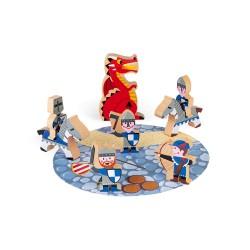 JANOD Mini Story Set drevené postavičky Rytieri