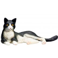 Animal Planet 387367 Mačka čiernobiela ležiaca