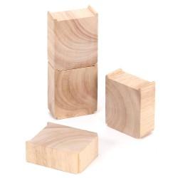 Mentari Drevené piliére k vláčikovej dráhe 4 kusy