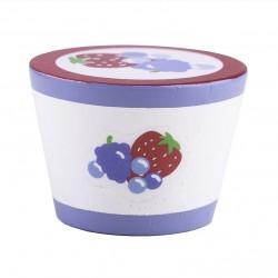 BIGJIGS Drevený jogurt - 1 kus