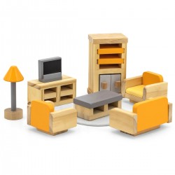 Viga PolarB Nábytok do domčeka pre bábiky - Obývačka