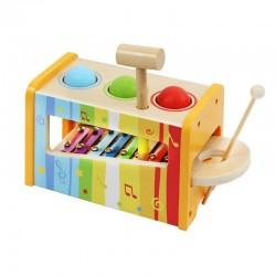 ISO Trade 6523 detská drevená zatĺkačka s xylofónom