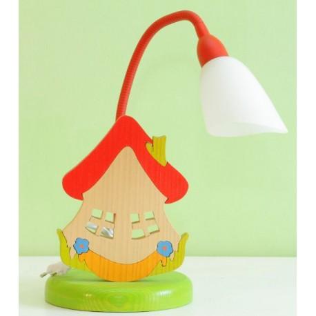 Detská stolná lampa - domček
