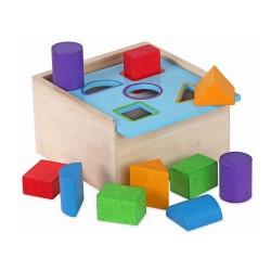 Mentari Drevená krabička na vkladanie tvarov