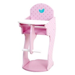 Mentari Detská drevená jedálenská stolička pre bábiky