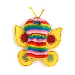 Prstová plyšová maňuška - Motýľ pruhovaný