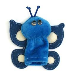 Prstová plyšová maňuška - Motýľ modrý