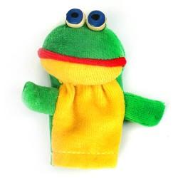 Prstová plyšová maňuška - Žabka