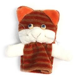 Prstová plyšová maňuška - Mačička pruhovaná