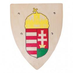 Drevený rytiersky štít s maďarským znakom