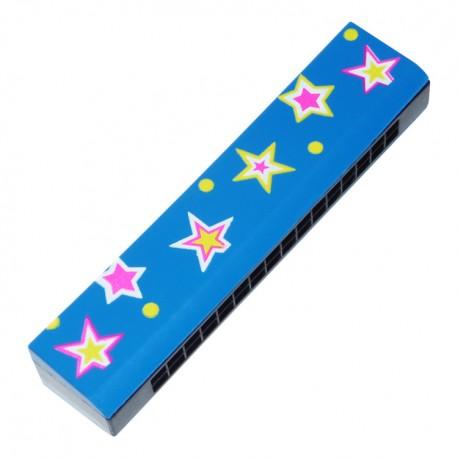 Ústna harmonika - modrá s hviezdičkami