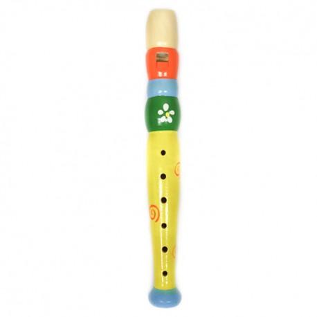 Detská drevená flauta malá - kvietok