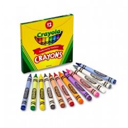 Crayola - farebné voskovky 12 ks