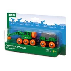 Brio 33698 Žeriav s vagónom