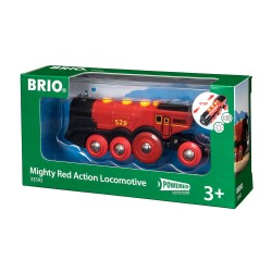 Brio 33592 Mohutná elektrická červená lokomotíva so svetlami