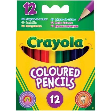 Crayola - polodlhé farebné ceruzky 12 ks