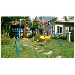 S-SPORT Detská záhradná hojdačka - trojmiestna 2 m