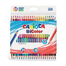 CARIOCA farebné ceruzky obojstranné 24 ks/48 farieb