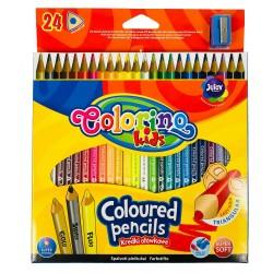 Colorino Kids farebné ceruzky 24 ks - gold, silver, fluo