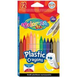 Colorino Kids farebné voskovky 12 ks - gumovateľné