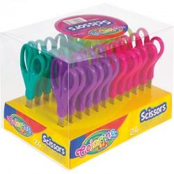 Colorino Kids detské nožnice 13,5 cm - tyrkysovo-zelené 1 ks