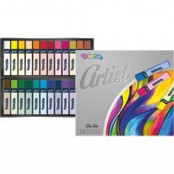 Colorino Artist farebné suché pastelky - 24 farieb