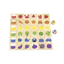VIGA Drevené didaktické puzzle Učíme sa farby