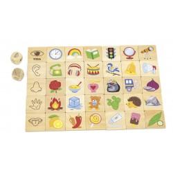 VIGA Drevené didaktické puzzle Učíme sa zmyslové orgány