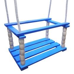 Detská drevená hojdačka (sedadlo) - modrá