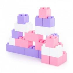 WADER stavebnica veľké kocky XXL 24-dielne - ružové farby