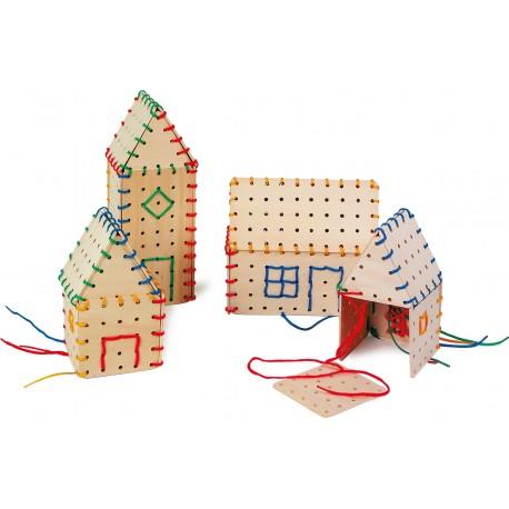 Legler Drevená hra na prevliekanie - domčeky