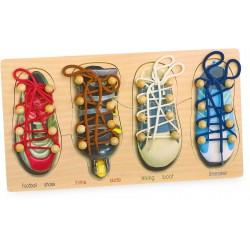 Legler Drevené puzzle - topánky