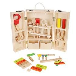 ISO Trade 9367 Detské drevené náradie v kufríku