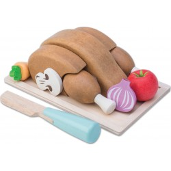 Le Toy Van Drevené potraviny na krájanie - pečené kura