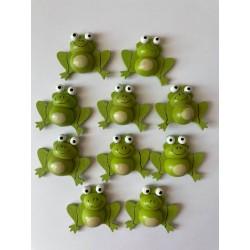 Drevené dekorácie - žabky 10 kusov