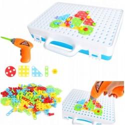 ISO 9427 Mozaika detské puzzle plastové bloky + skrutkovač