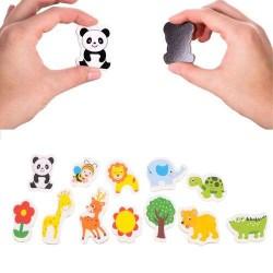 ISO 11551 Drevené magnetky 12 ks - Zvieratká