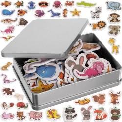 ISO 11552 Detské magnetky 40 ks - Zvieratká s názvami v angličtine