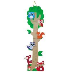 Drevený skladací meter - Lesné zvieratká
